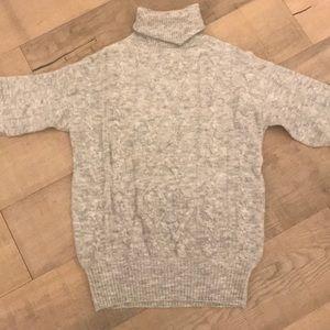 Oversized turtleneck sweater, alpaca/wool blend